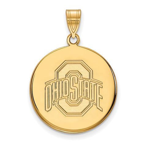 10ky LogoArt Ohio State University Large Disc Pendant