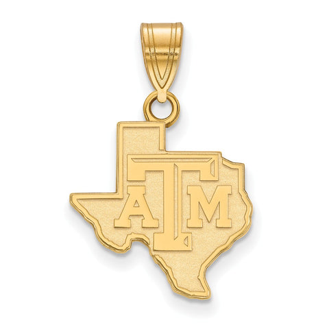 10ky LogoArt Texas A&M University Medium Pendant