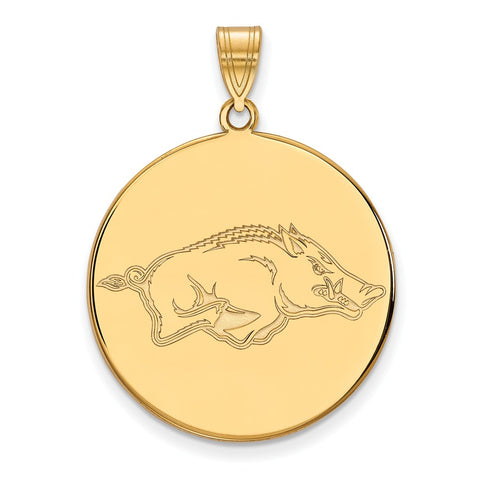 10ky LogoArt University of Arkansas XL Disc Pendant