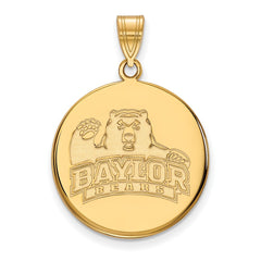 10ky LogoArt Baylor University Large Disc Pendant