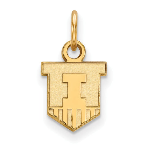 10ky LogoArt University of Illinois XS Pendant