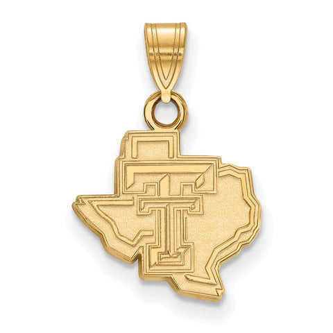 10ky LogoArt Texas Tech University Small Pendant