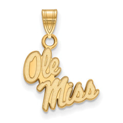 10ky LogoArt University of Mississippi Small Pendant