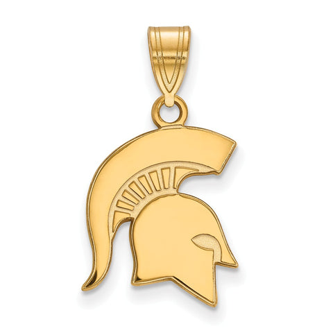 10ky LogoArt Michigan State University Medium Pendant