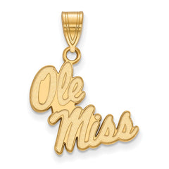 10ky LogoArt University of Mississippi Medium Pendant