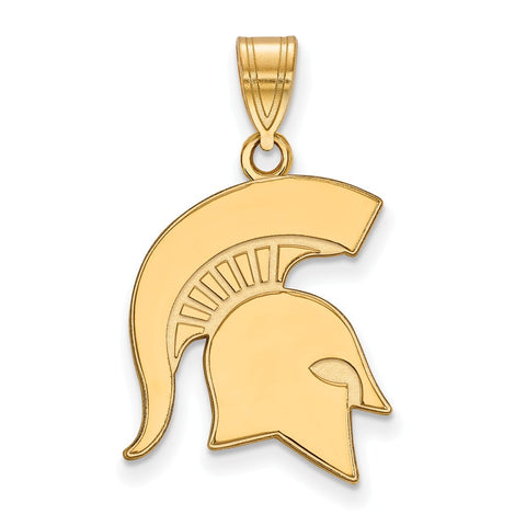 10ky LogoArt Michigan State University Large Pendant