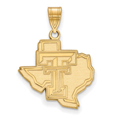10ky LogoArt Texas Tech University Large Pendant