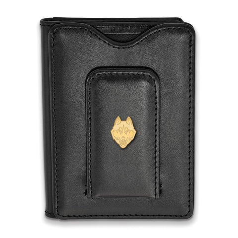 GP University of Connecticut Black Leather Wallet