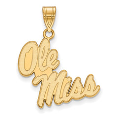 10ky LogoArt University of Mississippi Large Pendant