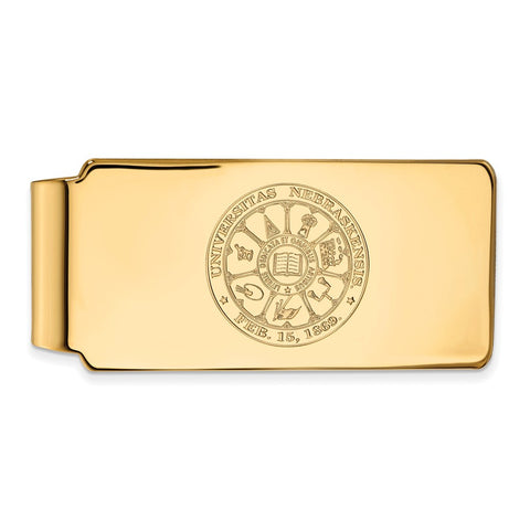 10ky LogoArt University of Nebraska Money Clip Crest