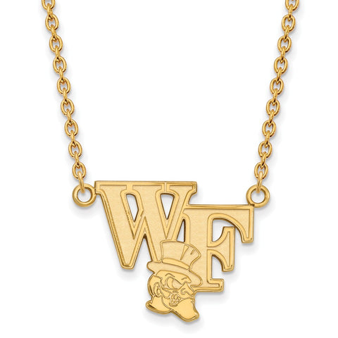 10ky LogoArt Wake Forest University Large Pendant w/Necklace