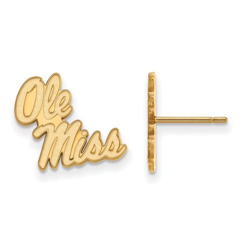 10ky LogoArt University of Mississippi Small Post Earrings