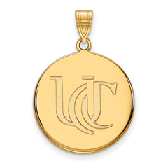 14ky LogoArt University of Cincinnati Large Pendant