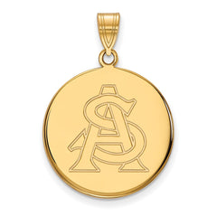10ky LogoArt Arizona State University Large Disc Pendant