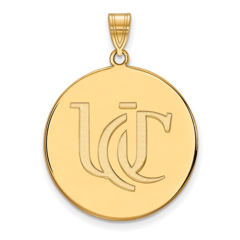 10ky LogoArt University of Cincinnati XL Disc Pendant