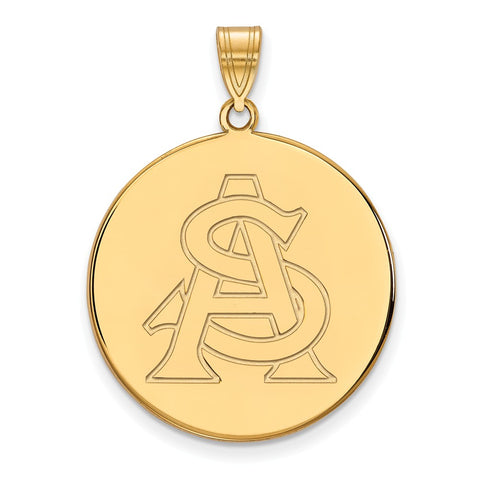 10ky LogoArt Arizona State University XL Disc Pendant