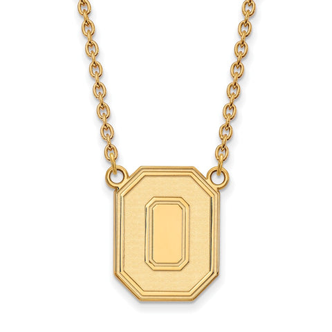 10ky LogoArt Ohio State University Large Pendant w/Necklace