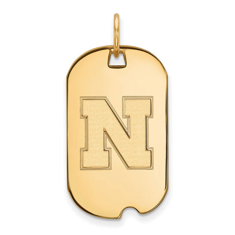 10ky LogoArt University of Nebraska Small Dog Tag