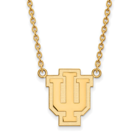 10ky LogoArt Indiana University Large Pendant w/Necklace