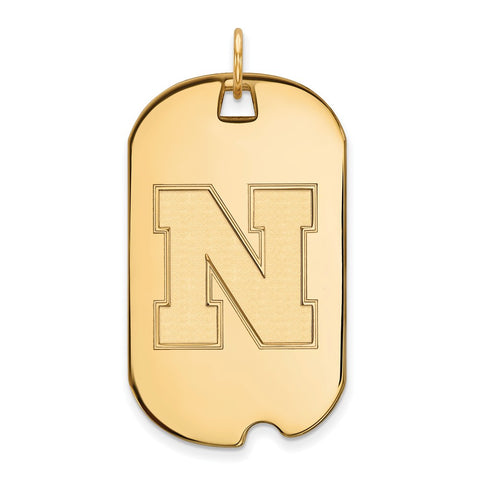 10ky LogoArt University of Nebraska Large Dog Tag