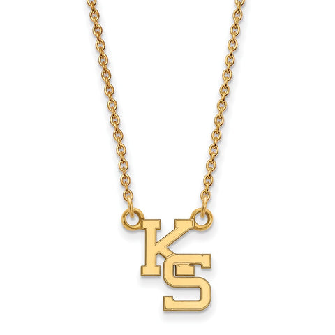 10ky LogoArt Kansas State University Small Pendant w/Necklace