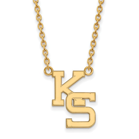 10ky LogoArt Kansas State University Large Pendant w/Necklace