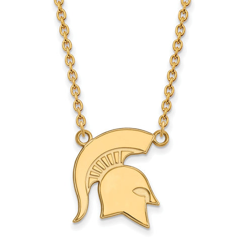 10ky LogoArt Michigan State University Large Pendant w/Necklace
