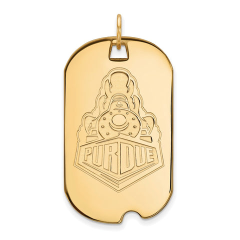 10ky LogoArt Purdue University Large Dog Tag