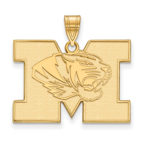 14ky Satin LogoArt University of Missouri Large Pendant