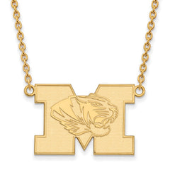 14ky LogoArt University of Missouri Large Pendant w/Necklace