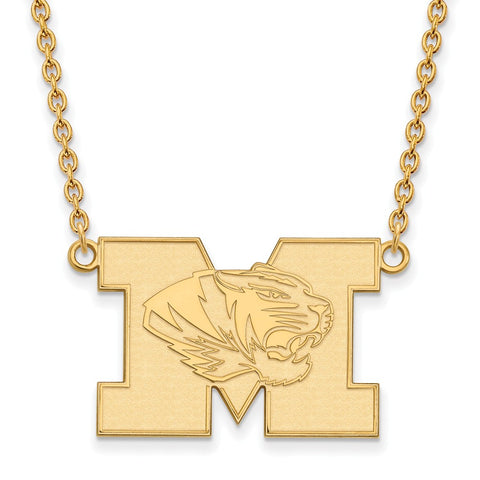 10ky LogoArt University of Missouri Large Pendant w/Necklace