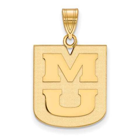 14ky LogoArt University of Missouri Large Pendant
