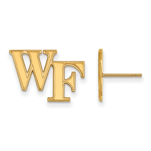 10ky LogoArt Wake Forest University Small Post Earringss