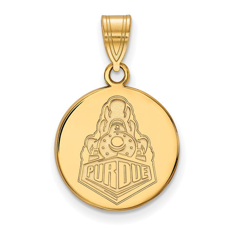 10ky LogoArt Purdue University Medium Disc Pendant