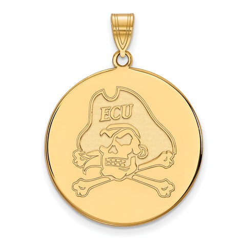 10ky LogoArt East Carolina University XL Disc Pendant