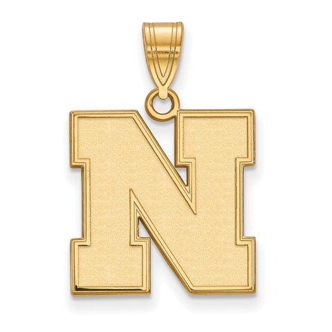 10ky LogoArt University of Nebraska Medium Pendant