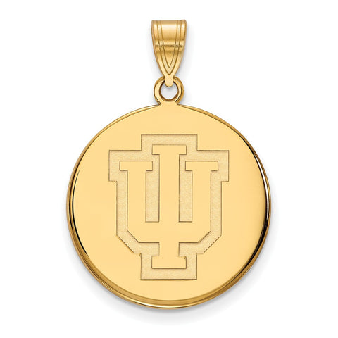 10ky LogoArt Indiana University Large Disc Pendant