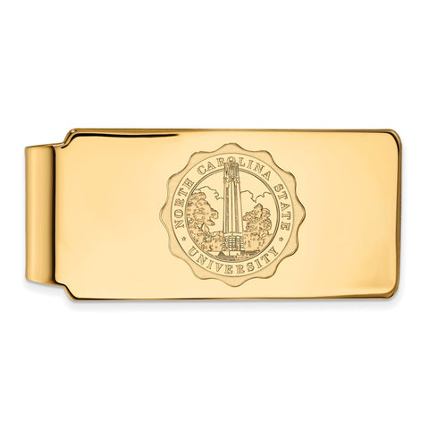 10ky LogoArt North Carolina State University Money Clip Crest