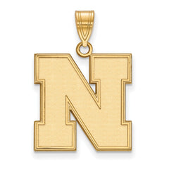 10ky LogoArt University of Nebraska Large Pendant