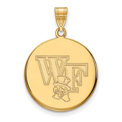 10ky LogoArt Wake Forest University Large Disc Pendant