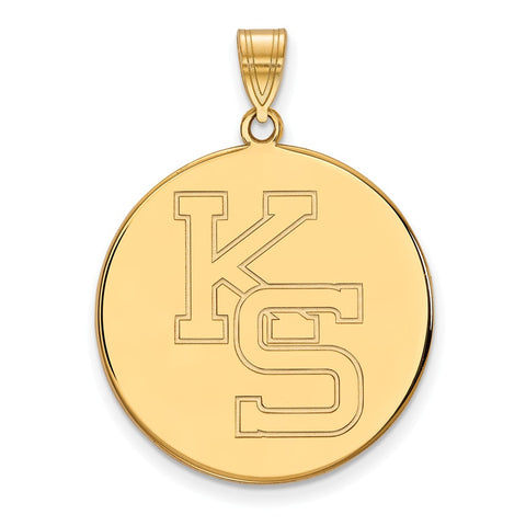 10ky LogoArt Kansas State University XL Disc Pendant