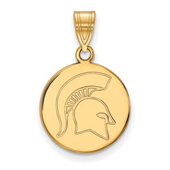 10ky LogoArt Michigan State University Medium Disc Pendant
