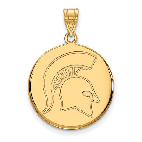 10ky LogoArt Michigan State University Large Disc Pendant