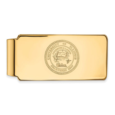 10ky LogoArt University of Illinois Crest Money Clip