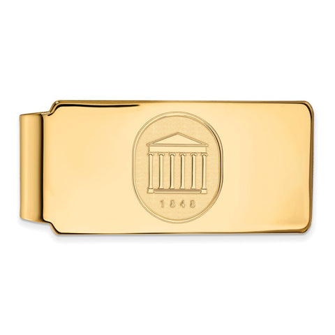 10ky LogoArt University of Mississippi Money Clip Crest