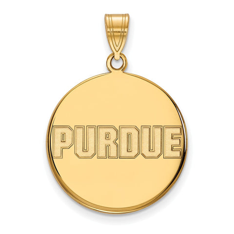 10ky LogoArt Purdue University Large Disc Pendant