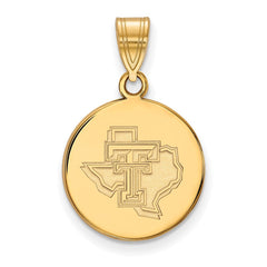 10ky LogoArt Texas Tech University Medium Pendant