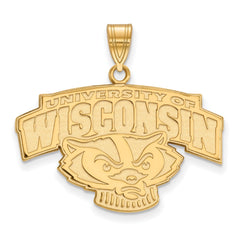 10ky LogoArt University of Wisconsin Large Pendant