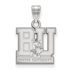 Sterling Silver LogoArt Boston University Small Pendant