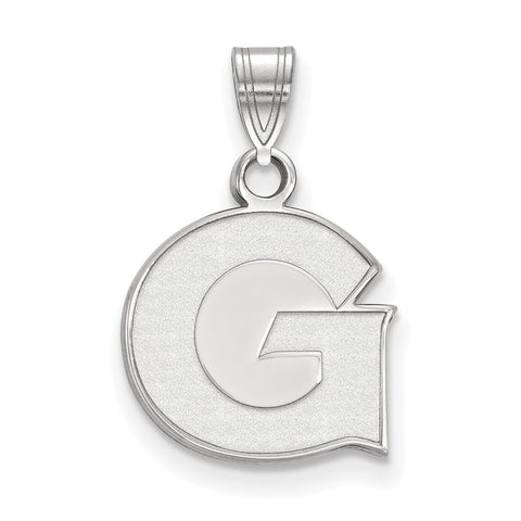 Sterling Silver LogoArt Georgetown University Small Pendant